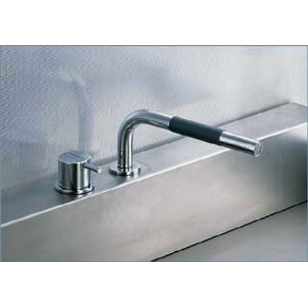 Vola Faucets 500T1 Vola 1 Handle Deck Mixer W Handspray Chrome Stainless (Vola Mixer)