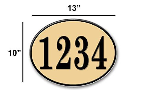 West Coast Curb-N-Sign Oval Reflective Address Plaque (White) by West Coast Curb-N-Sign (Image #2)