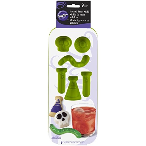 Wilton 570-0116 9 Cavity Science Lab Silicone Mold, Green -