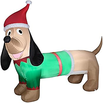 Inflatable Dachshund Christmas Decoration