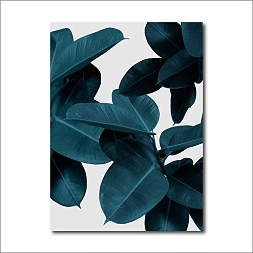 - Wall Pictures for Living Room Leaf Cuadros Picture Nordic Poster Floral Wall Art Canvas Painting Botanical Posters and Prints,40X50 cm No Frame,Fbh049
