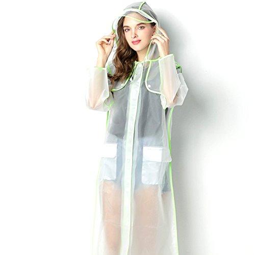 Outdoor peak unisex women Rain clothes Rain cape fashion camping trips (green, L 160-165 CM 45-60KG)