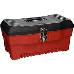 Stack-On PR-16 16-Inch Multi-Purpose Tool Box, Black/Red