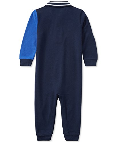 Ralph Lauren Baby Boys Colorblocked L/S Cotton Coverall French Navy