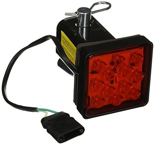 """2"""" Trailer Hitch Receiver Cover with 12 LED Brake Leds Light Tube Cover w/Pin"""