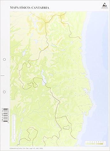 Paquete50 Mapas Cantabria Fisico Mudos 9788482893655 Amazon Com