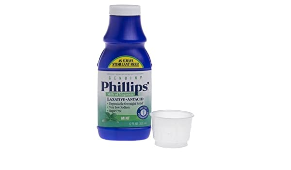Amazon.com: Phillips Milk of Magnesia Laxative Antacid, Mint, 12 Ounces by Phillips: Health & Personal Care