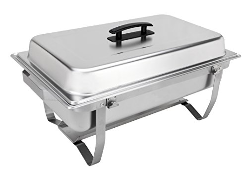 Sterno Products 70153 Foldable Frame Buffet Chafer Set, 8 qt, 8 quart, Silver -