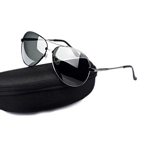 Polarized Gunboxblackgrayfilm Legs Sun Gafas Unisex De UV400 Metal Conducción Gafas Sol De Retro Spring Oq1x0FA