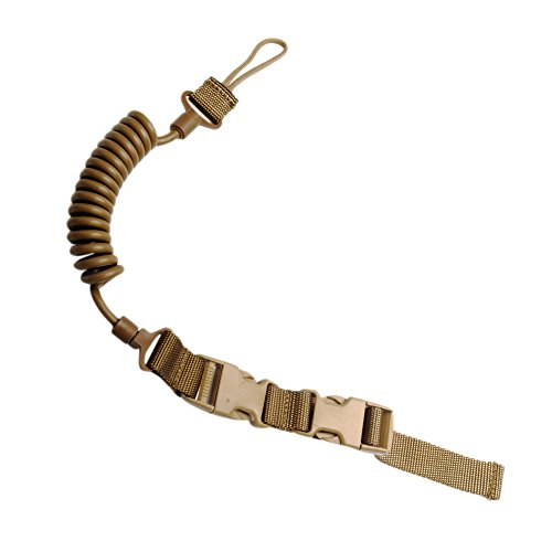 CyberDyer Tactical Pistol Lanyard Retention Pistol Coil Style Security Leash 3 Colors Available