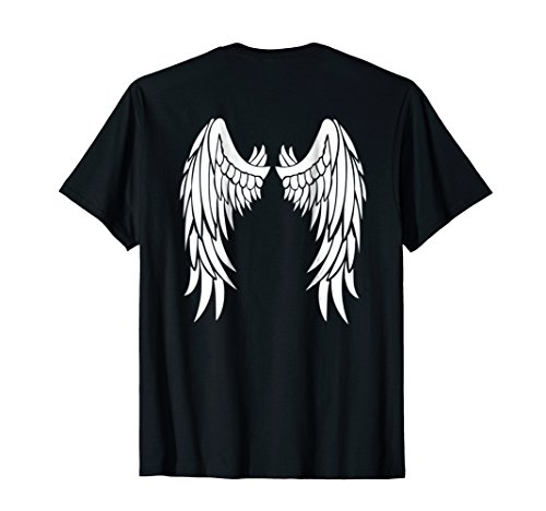 Angel Devil Halloween Costume DIY White Wings T-Shirt -
