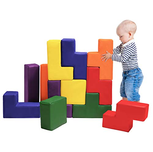 Dream Tree Tetris 3D Puzzle- Easy Care, Non-Toxic CPSIA Compliant Learning Toys Soft Foam Blocks for Toddler, Baby, Kids, and Preschool ()