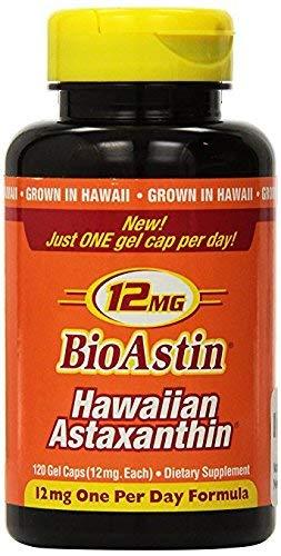 BioAstin Astaxanthin 12mg, 120ct - Supports Recovery from Exercise + Joint, Skin, Eye Health Naturally - 100% Hawaiian Sourced Premium Antioxidant kkj