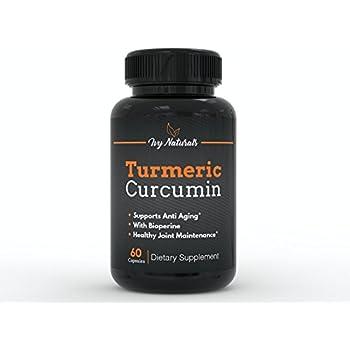 Turmeric Curcumin 60 CT by Ivy Naturals    Effective Turmeric Curcumin    95% Curcuminoids Enhanced with BioPerine    Boost Antioxidants    Anti-Inflammatory    100% Satisfaction Guarantee