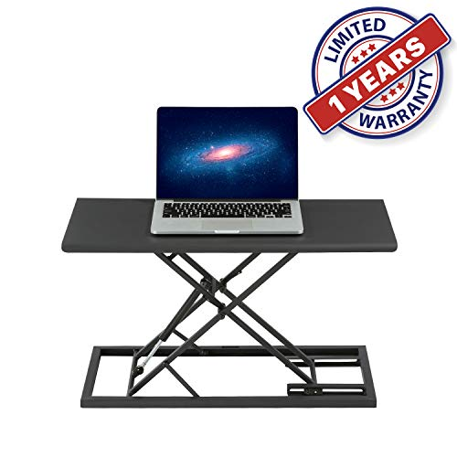 Light Weight Portable Lap Desk Standing Work Station with Ultra Thin Design and Adjustable Height for Carry On Laptop Mobile Office