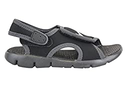 Boy\'s Nike Sunray Adjust 4 (TD) Toddler Sandal Black/Anthracite/White Size 9 M US
