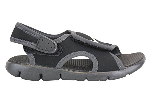 Nike Boy's Sunray Adjust 4 (TD) Toddler Sandal Black/Anthracite/White Size 8 M US by NIKE