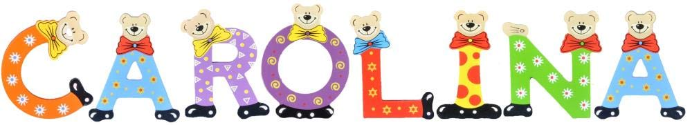 Sortiert Playshoes Kinder Holz-Buchstaben Namen-Set Carolina
