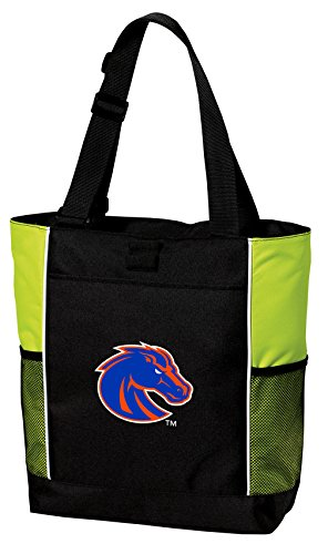 (Boise State Broncos Tote Bag Cool Lime Boise State University Totes Beach Pool Or Gym)