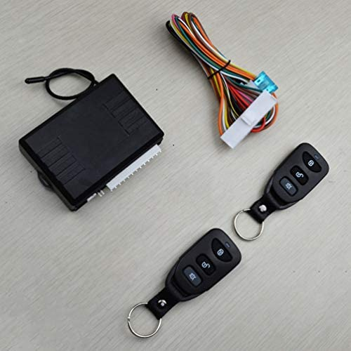 Wakauto 1 Set Universal Car Remote Central Kit Door Lock Keyless Entry System Car Alarm System Car Accessories for Car Vehicle Black