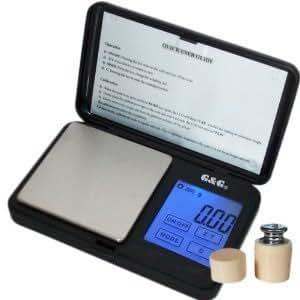 G&G - Báscula digital de precisión - Peso máximo: 100 g / Granularidad: 0, 01 g - Color Negro