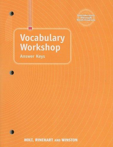 Elements Of Language: Vocabulary Workshop Answer Keys