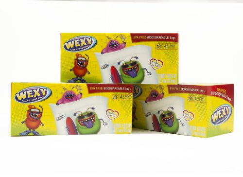 WEXY Lunch and Munch Snack Bags for Kids Lunch Boxes Fun (3pack)