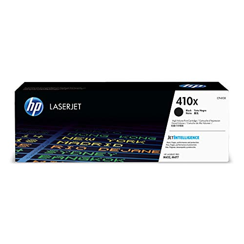 HP 410X (CF410X) Toner Cartridge, Black High Yield for HP Color LaserJet Pro M452dn M452dw M452nw MFP M377dw MFP M477fdn MFP M477fdw MFP ()