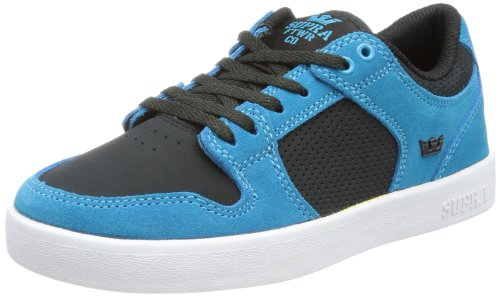 Supra - Youth Vaider Lc Shoes, Size: 13 M US Little Kid, Color: Turquoise/Pirate Black/Wht