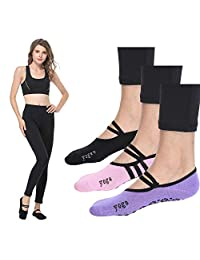 Grip Barre Socks Barre Pilates Socks Yoga Grip Non Slip Skid Ballet Socks Woman