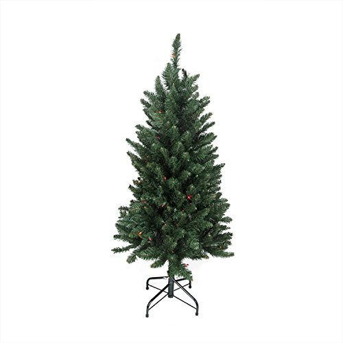 Northlight  31465526 Pre-Lit Slim Pine Artificial Christmas Tree with Multicolored Lights, 4.5'