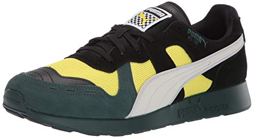 PUMA Men's RS-100 Sneaker, Ponderosa Pine-Blazing Yellow, 13 M US