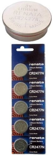 Renata CR2477N 3 Volt, 950mAh, Lithium Coin Battery, On Tear Strip by Renata (950 Mah Lithium Battery)