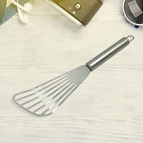 Chutoral Kochspatel, Edelstahl, Schlitz-Kochspatel, hitzebeständig, Küchenbedarf, für Küche