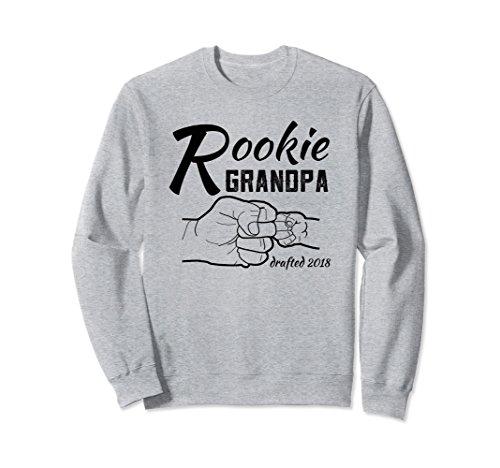 Unisex Proud New Grandpa Baby Announcement Sweatshirt Large Heather (New Grandpa Sweatshirt)