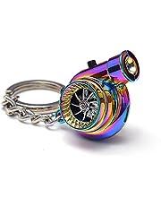 Q&A Auto Turbo sleutelhanger oplaadbare Turbo sleutelhanger met geluid en licht,Elektrische Turbo sleutelhanger,USB Mini sleutelhanger Turbo Key Sleeve Bearing Spinning Model Turbo Charger Ring Sleutel van BOV Sound