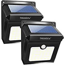 Solar Lights, Neloodony Solar Motion Sensor Security Lights 28 LED Waterproof Solar Wall Light Outside Lights for Garden, Fence, Patio, Yard, Walkway, Driveway, Stairs, Outside Wall etc. (2 Pack)