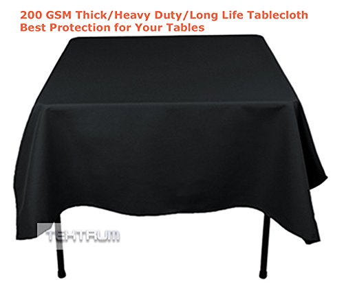 Square Polyester Tablecloth (TEKTRUM 70 X 70 INCH 70