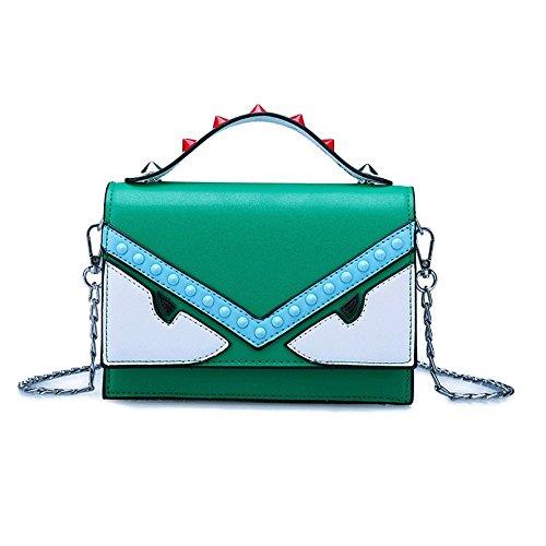 Green Chaîne Rivet Bandoulière Messenger Sac Petite à Main À Sac Sacs Sac BAILIANG Bandoulière Femmes Main Été Mini Travail Vacances FnT5wqHq