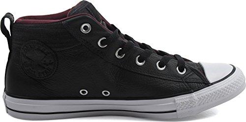 Converse Mens Kastar Taylor All Star Street Sneaker Läder Svart Vit Fleece