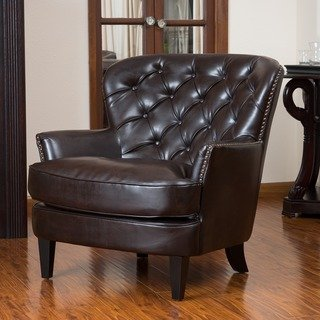 Charmant Christopher Knight Home Tafton Tufted Brown Leather Club Chair