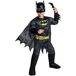 Rubie's Costume Boys DC Comics Deluxe Batman Costume, Small, Multicolor