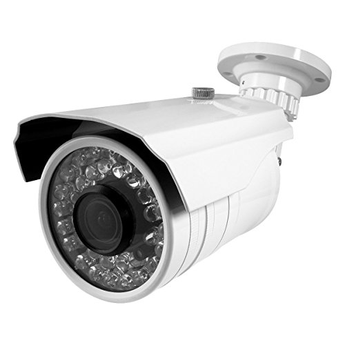Best Vision BV-IR140-HD 1000TVL Bullet Security Camera White - Outdoor - Night/Day - 2.8-12mm Lens