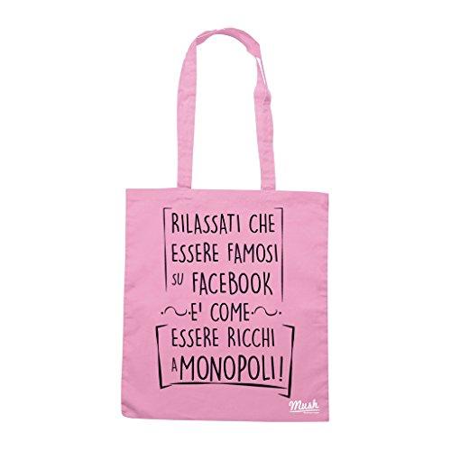 Borsa FAMOSO SU FACEBOOK- SOCIAL LOL - Rosa - MUSH by Mush Dress Your Style