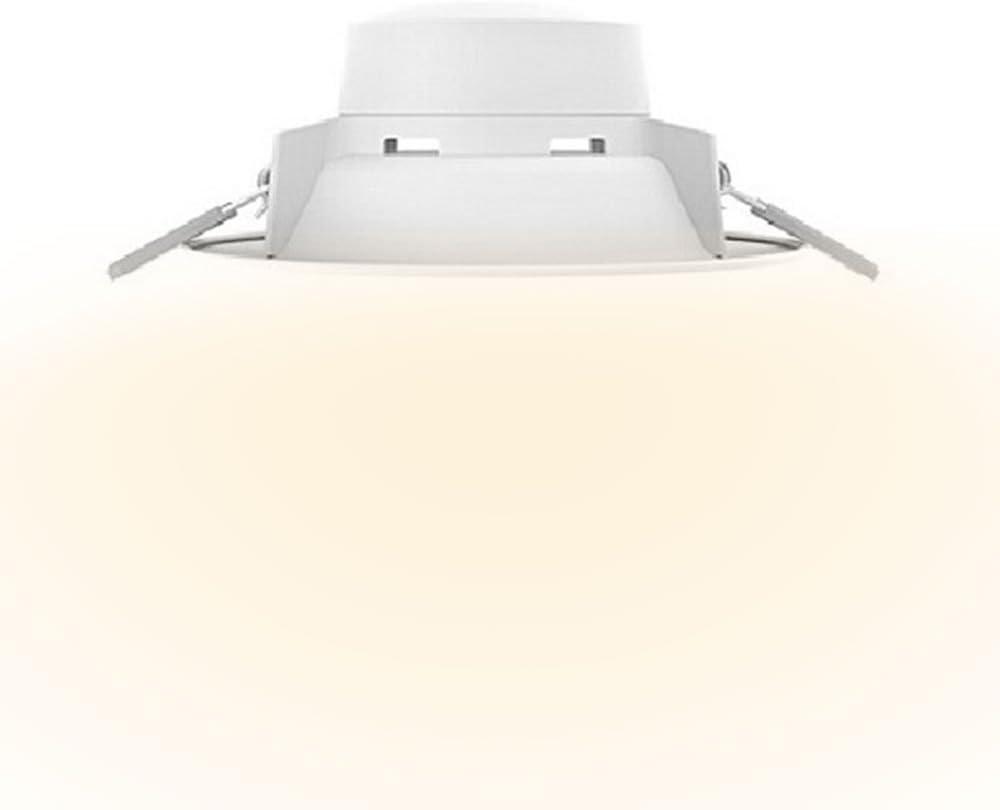 yeelight brillante 5 W LED de techo foco empotrable redondo, 400 lúmenes, ultrafina integrada para el hogar, sala de estar, pasillo, vestíbulo, Hall, oficina, tienda, Super Market, Hotel, luz blanca cálida/cálido amarillo,