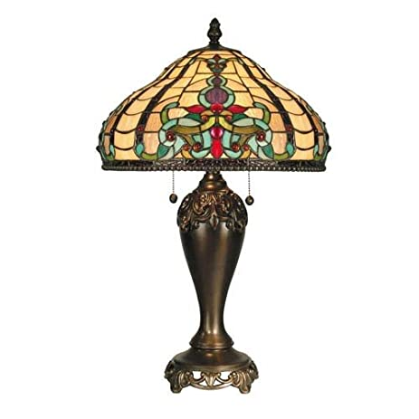 Dale Tiffany TT60203 Topaz Baroque Table Lamp, Antique Golden Sand ...