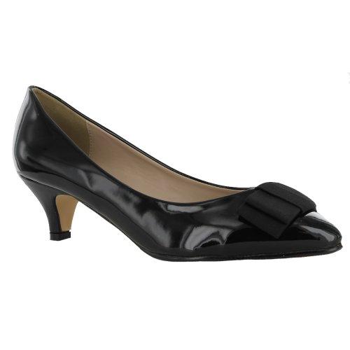 Footwear Sensation - Zapatos de vestir para mujer rojo - Red Patent