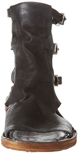 A.S.98 Ramos, Sandalias de Gladiador Para Mujer Schwarz (Nero+ Inox)