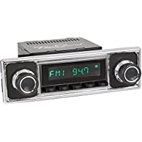RetroSound HB-308-410-39-79 Hermosa Direct-Fit Radio for Classic Vehicle (Black Face and Buttons and Black/Chrome Faceplate)
