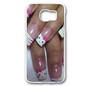 Perfect fitting cover protects your Samsung S6, case protect your Samsung S6 with Cute and Creative Hello Kitty Nail Art